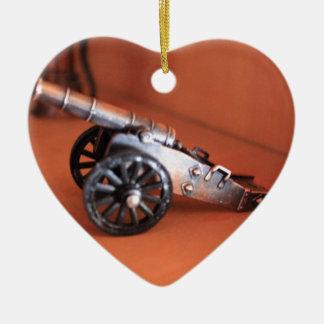 Cannon Ceramic Ornament