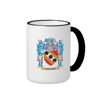 Cannon Coat of Arms - Family Crest Ringer Coffee Mug