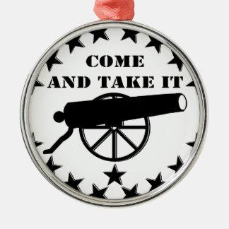 Cannon Come And Take It 2nd Amendment #2 Christmas Ornaments