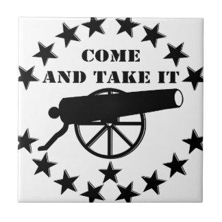 Cannon Come And Take It 2nd Amendment #2 Ceramic Tiles