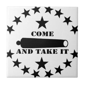 Cannon Come And Take It 2nd Amendment Ceramic Tiles