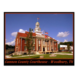 Cannon County Courthouse - Woodbury, TN Postcards