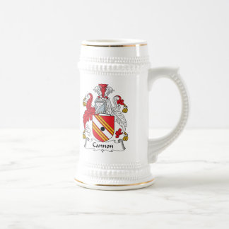 Cannon Family Crest 18 Oz Beer Stein