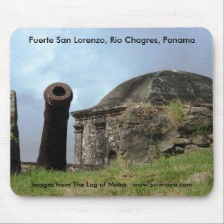 Cannon, Fuerte San Lorenzo, Rio Chagres, Panama Mouse Pad