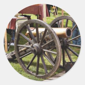 Cannon In Old Town San Diego Round Sticker