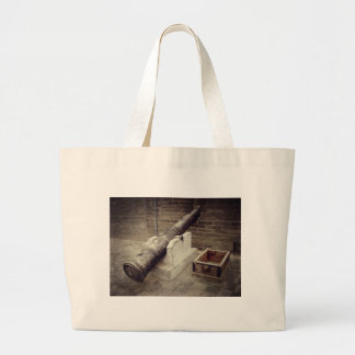Cannon On Old City Wall Tote Bags