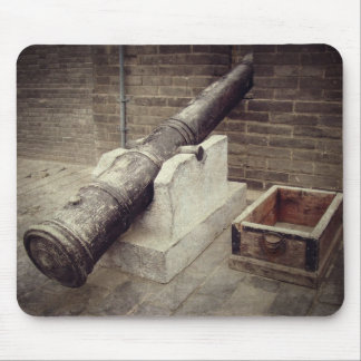 Cannon On Old City Wall Mouse Pads