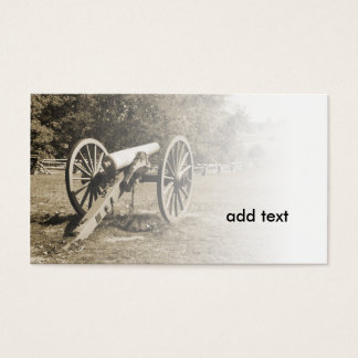 cannon on the Gettysburg Battlefield Business Card