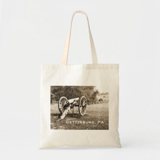 cannon on the Gettysburg Battlefield Tote Bag