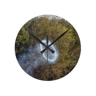 Cannon Smoke Ring Round Clock