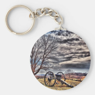 Cannon waiting on cemetery Hill Basic Round Button Keychain
