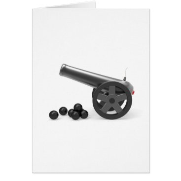 Cannon with black bombs card