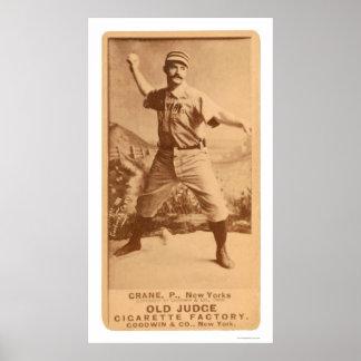 Cannonball Crane Baseball 1887 Poster
