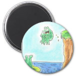 Cannonball Frog 2 Inch Round Magnet