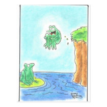Cannonball Frog Postcard