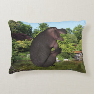 Cannonball Hippo Accent Pillow