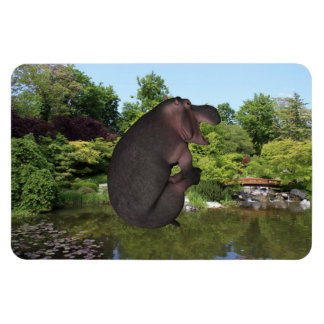 Cannonball Hippo Magnet