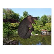 Cannonball Hippo Postcard