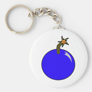 Cannonball Round Shot Bomb Cannon Ball Pirate Basic Round Button Keychain