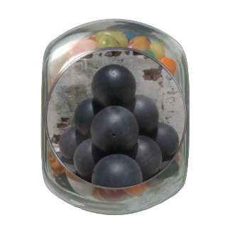 Cannonballs Glass Jar