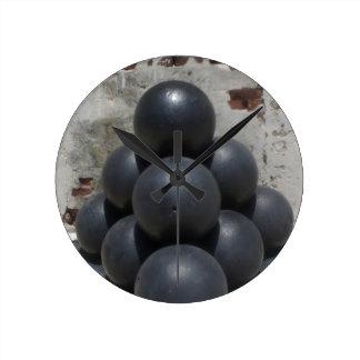 Cannonballs Round Wall Clocks