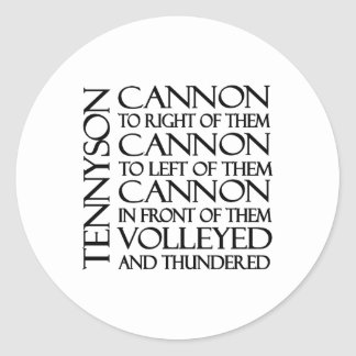 Cannons Classic Round Sticker