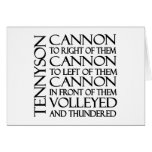 Cannons Greeting Card