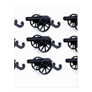 cannons in rows baby postcard