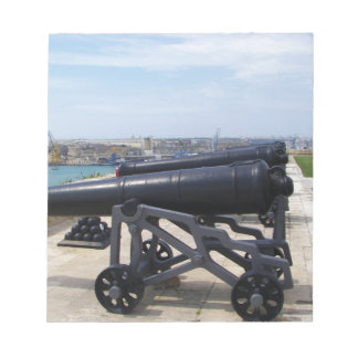 Cannons On Malta Note Pad