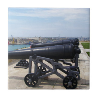 Cannons On Malta Small Square Tile