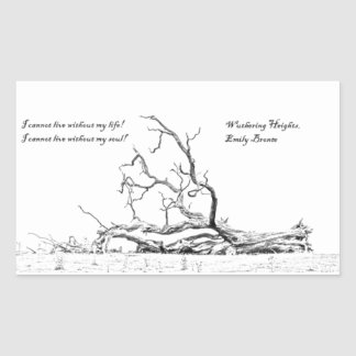 Cannot Live Without My Soul Wuthering Heights Rectangular Sticker