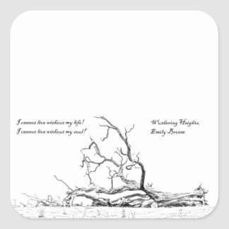 Cannot Live Without My Soul Wuthering Heights Square Stickers