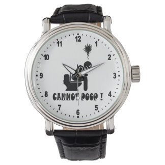 Cannot poop! wristwatch