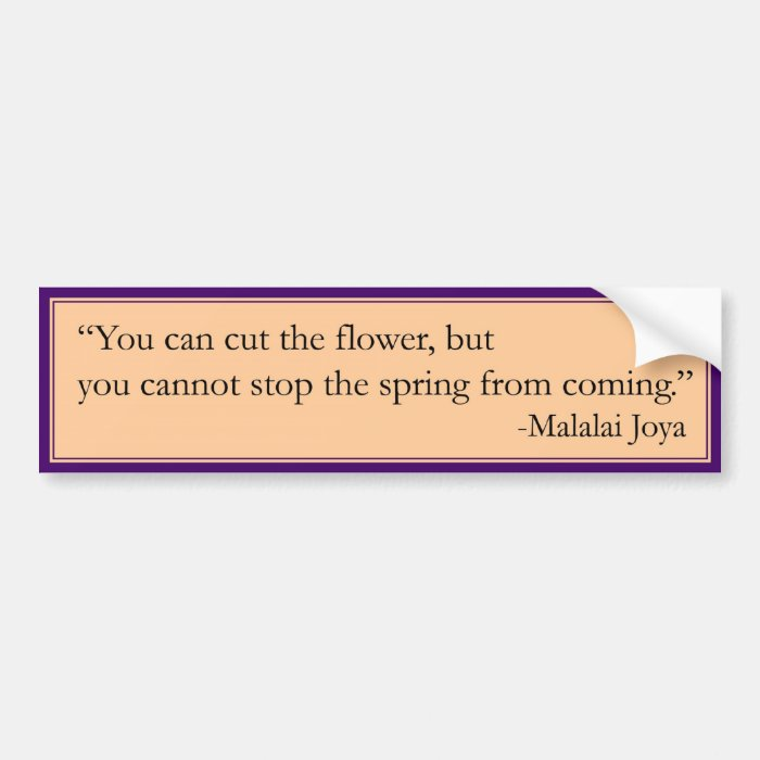 Cannot Stop the Spring Bumper Sticker