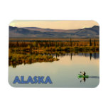 Canoa Alaska Imanes Rectangulares