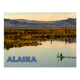 Canoa Alaska Tarjeta Postal
