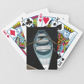 Canoa azul barajas de cartas