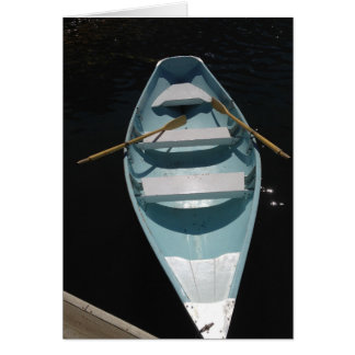 Canoa azul tarjeta pequeña