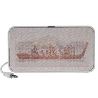 Canoa de cobertizo pilotada por los naturales de N iPhone Altavoces
