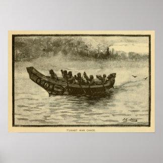 canoa de la guerra póster