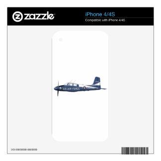 Canoa del azul de Cessna U-36 iPhone 4 Skins
