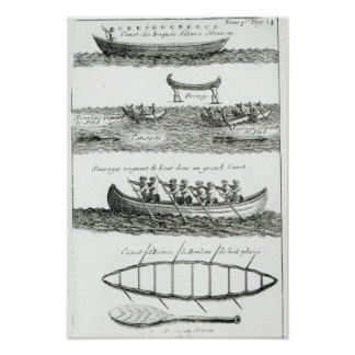 Canoa del Iroquois Poster