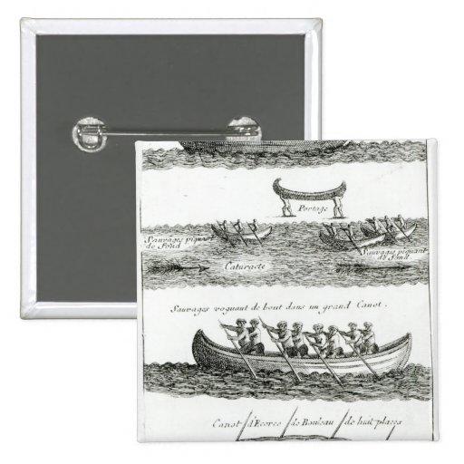 Canoa del Iroquois Pins