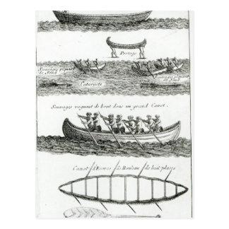 Canoa del Iroquois Postal