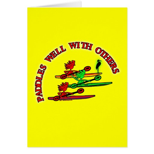 Canoa del kajak - paletas bien con otras tarjeta de felicitación