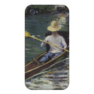 Canoa en el río de Yerres - Gustave Caillebotte iPhone 4/4S Funda