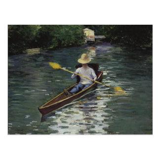 Canoa en el río de Yerres - Gustave Caillebotte Postal
