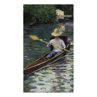 Canoa en el río de Yerres - Gustave Caillebotte Tarjeta De Visita