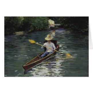 Canoa en el río de Yerres - Gustave Caillebotte Tarjeta De Felicitación