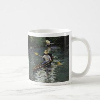 Canoa en el río de Yerres - Gustave Caillebotte Taza